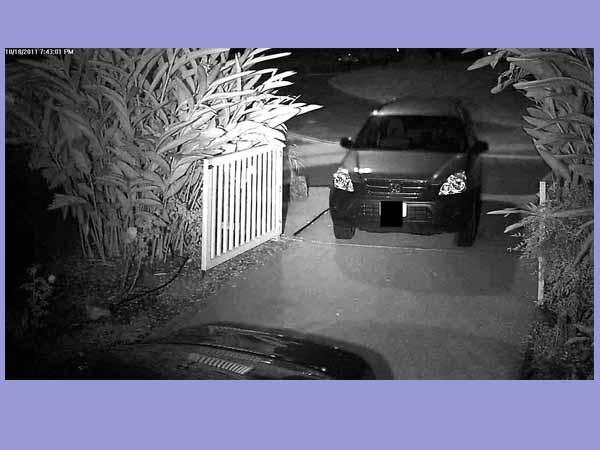 تقویت دید در شب دوربین مدار بسته توسط پروژکتور مادون قرمز