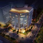 نورپردازی ساختمان تجاری اداری عالی قاپو