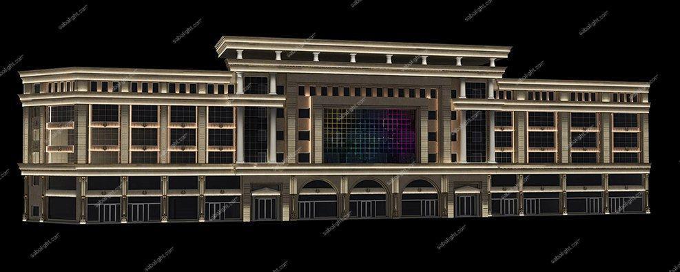 نورپردازی نمای ساختمان 4