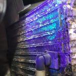نشت یابی رادیاتور با نور ماورا بنفش