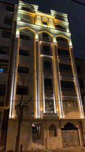 نورپردازی مجتمع مسکونی مارینا 5